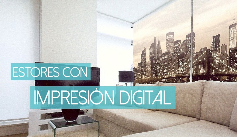 Estores con impresión digital